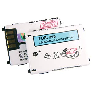 850mAh Li-ion for MOTOROLA V3688 FREI