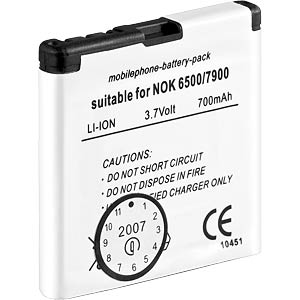 700mAh Li-ion for NOKIA 6500, 7900 FREI