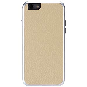Aluminum-and-leather case for iPhone 6, beige JUST MOBILE AF-168BG