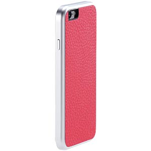 Aluminum-and-leather case for iPhone 6, pink JUST MOBILE AF-168PK