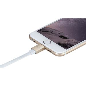 Lightning-naar-USB-kabel, 0,1 m, goud JUST MOBILE DC-258GD