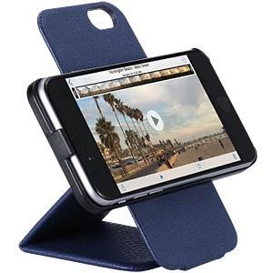 Leder-Hülle mit Flip-Funktion für iPhone 6, blau JUST MOBILE RC-168BL