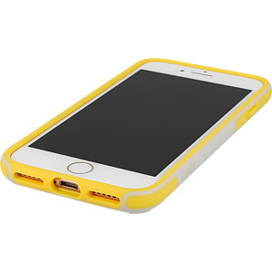Sporty Case, protective case for iPhone 8, grey/yellow KMP PRINTTECHNIK AG 1417650510
