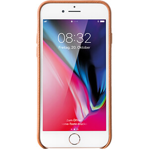 Leder Case, Echtleder Schutzhülle für iPhone 8, braun KMP PRINTTECHNIK AG 1417650620
