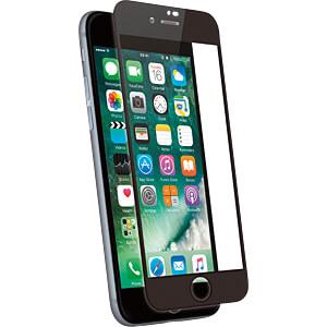 Schutzfolie für iPhone 8 Hartglas Displayschutz, schwarz KMP PRINTTECHNIK AG 1417656001