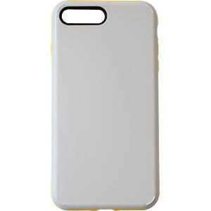 Sporty Case - beschermhoes voor iPhone 8 Plus, grijs/geel KMP PRINTTECHNIK AG 1417660510