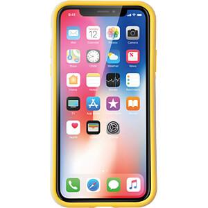 Sporty Case, Schutzhülle für iPhone X, grau/gelb KMP PRINTTECHNIK AG 1417670510