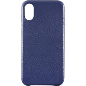 Leder Case, echt lederen beschermhoes voor iPhone X, blauw KMP PRINTTECHNIK AG 1417670605