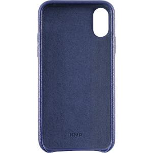 Leder Case, Echtleder Schutzhülle für iPhone X, blau KMP PRINTTECHNIK AG 1417670605