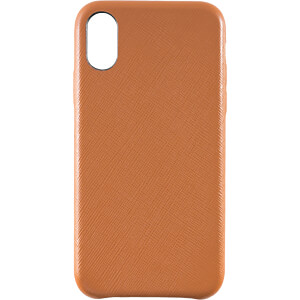 Genuine leather Case for iPhone X, brown KMP PRINTTECHNIK AG 1417670620