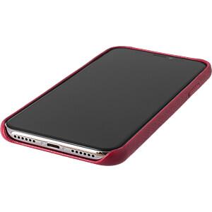 Leder Case, Echtleder Schutzhülle für iPhone X, rot KMP PRINTTECHNIK AG 1417670622