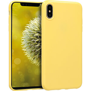 TPU Case für Apple iPhone XS Max (6.5) Gelb matt KWMOBILE 45908.49