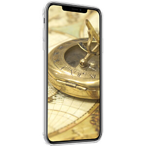 Crystal TPU Case für Apple iPhone X Plus (6.5) Weltkarte KWMOBILE 45914.01