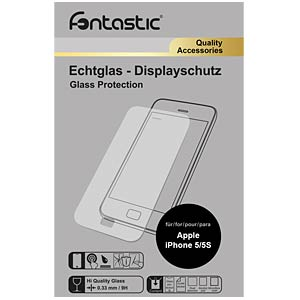 Schutzglas, 1 Stück, für Apple iPhone 5/5S/SE FONTASTIC LTAPIPHONE504
