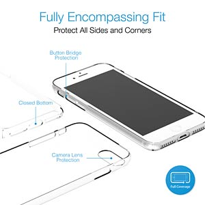 Self-mending case, iPhone 7, crystal clear JUST MOBILE PC-178CC