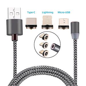 3-in-1 Ladekabel magnetisch Type-C, micro-USB, Lightning SERTRONICS 125433