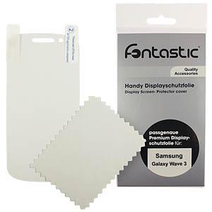 Schutzfolie, 2 Stück, für Samsung Galaxy Wave 3 FONTASTIC SFSAGAW301