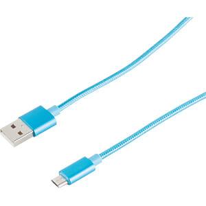 Sync- & Ladekabel, USB-A -> micro B, 1,2 m SHIVERPEAKS BS33091-B