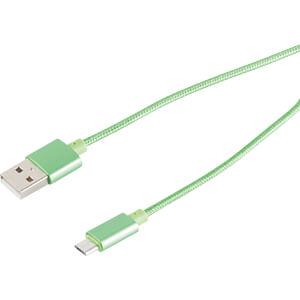 USB data- en oplaadkabel, USB A-stekker naar micro B, 1,2 m SHIVERPEAKS BS33091-G