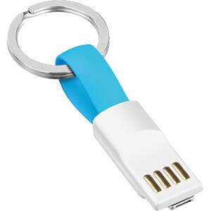USB Ladekabel, USB auf micro USB / Lightning, hellblau, 0,11 m SMRTER SMRTER_COLI_2IN1_LB