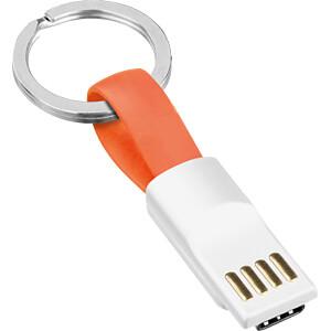 USB Ladekabel, USB auf USB C Stecker, orange, 0,11 SMRTER SMRTER_COLI_USBC_OR
