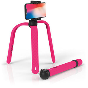 Flexibles Stativ / Selfie-Stick, Bluetooth®, pink ZBAM 55964
