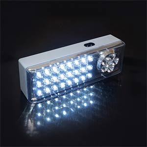 Emergency light with 24+6 LEDs, 4V 1.2Ah battery included FREI
