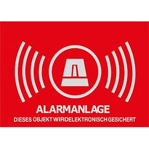 ALARM warning sticker, 148x105 mm ABUS SECURITY TECH AU1322