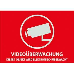 VIDEO warning sticker 74x52.5 mm ABUS SECURITY TECH AU1321
