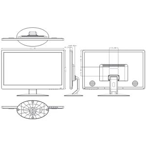 Überwachungs-Monitor, 21 (53 cm), TFT, BNC, HDMI - EEK A FREI