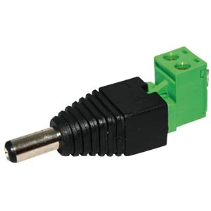Hollow plug adapter with screw terminals, angled FREI