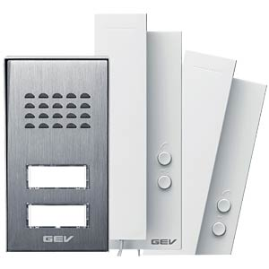 Audio door intercom system, semi-detached house GEV CAS 88313