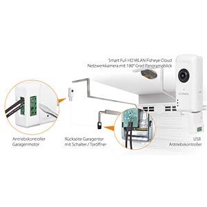 Überwachungskamera, IP,WLAN, mit Garagentor-Antriebskontroller EDIMAX IC5160GC