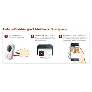 Edimax® outdoor IP camera 720p HD EDIMAX IC-9110W