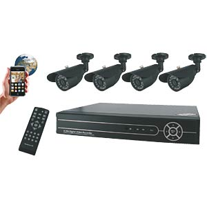 Video surveillance set with four cameras incl. 500 GB ELRO FA420DVR