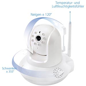 Edimax® WLAN IP camera, pan - tilt EDIMAX IC-7113W