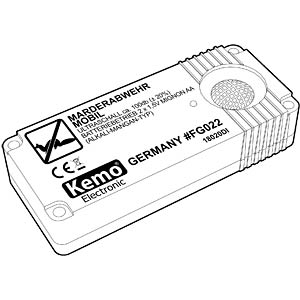 Mobile marten repellent, battery-powered KEMO FG022