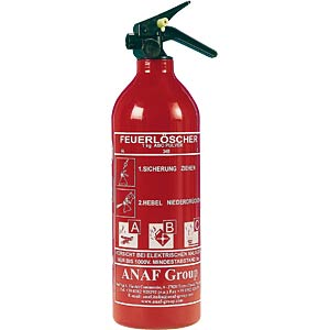 Powder fire extinguisher FLP3309, 1 kg GEV
