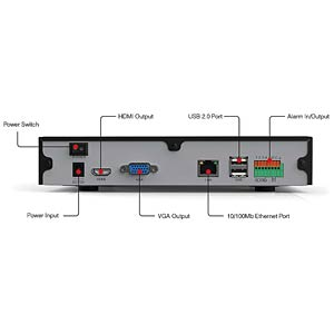 Netzwerk-Videorekorder 9-Kanal FOSCAM FN3109H