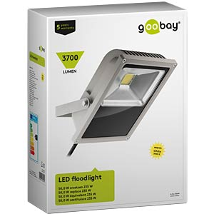 LED-Flutlicht, 50 W, 3700 lm, 3000 K, grau, IP64 GOOBAY 30644