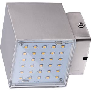 KUBUS 2 LED wall light, EEC A+ HEITRONIC 35272