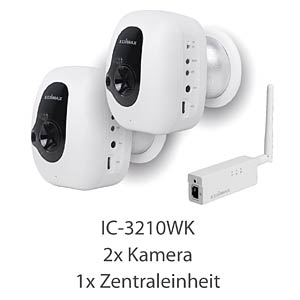 Überwachungskamera, Kit 2 Kameras + Gateway EDIMAX IC-3210WK