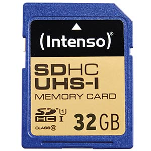 SDHC-kaart 32GB, Intenso Class 10 - UHS-1 INTENSO 3421480
