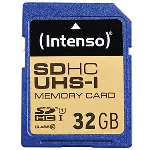 SDHC-Speicherkarte 32GB, Intenso Class 10 - UHS-1 INTENSO 3421480
