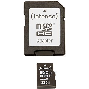 Micro SDHC card, 32GB, Intenso Class 10 INTENSO 3423480