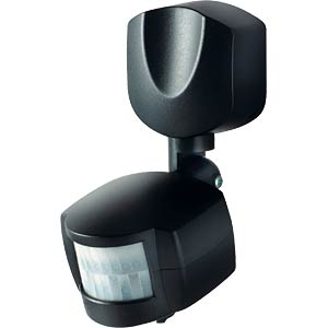 Infrared motion detector, 140° range, black GEV 18129