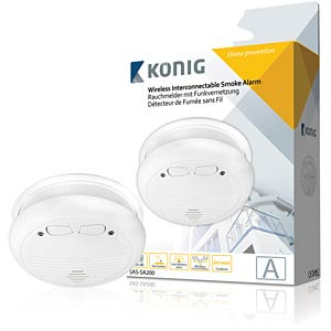 Photoelektrischer König Funk-Rauchmelder KÖNIG SAS-SA200