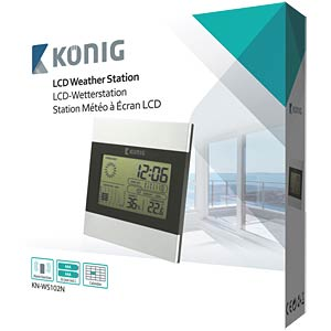 LCD clock and weather station KÖNIG KN-WS102N