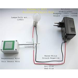 Rain sensor, 12 V/DC KEMO M152