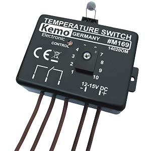 Temperature switch Thermostat 12 V/DC KEMO M169
